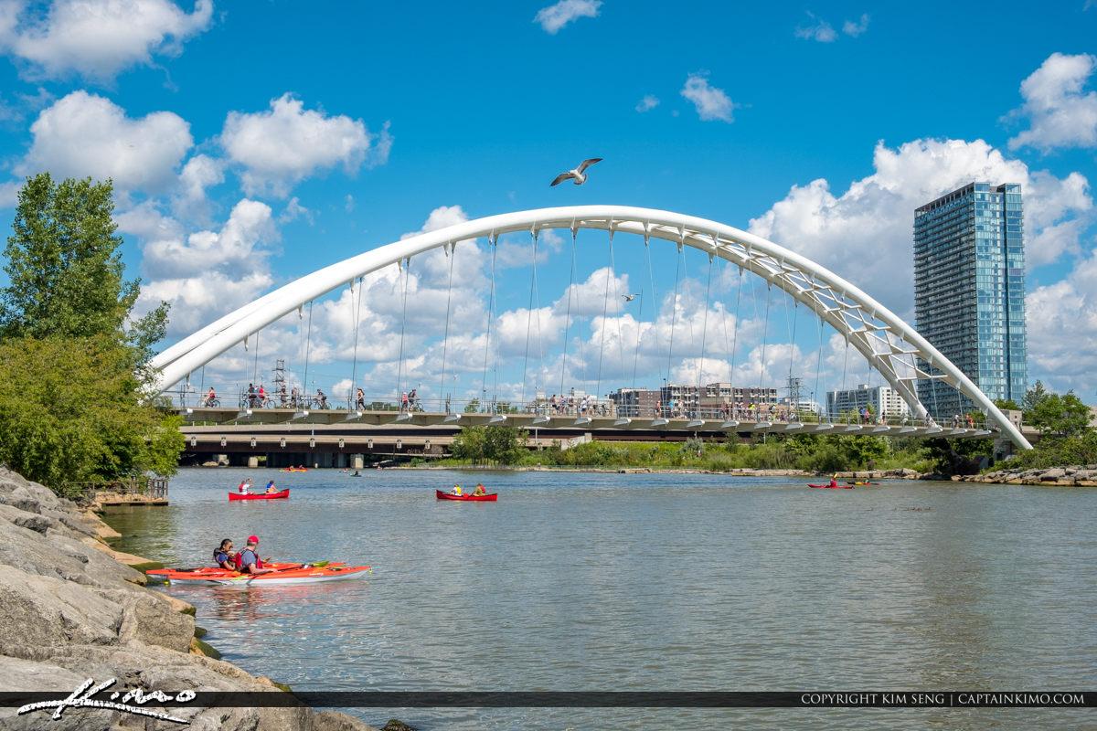 Kayak Humber Bay Arch Bridge Martin Goodman Trail Toronto Canada