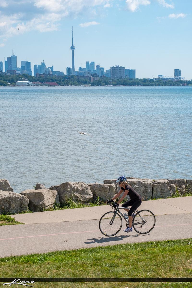 Martin Goodman Trail Bicycling at Sheldon Lookout Toronto Canada