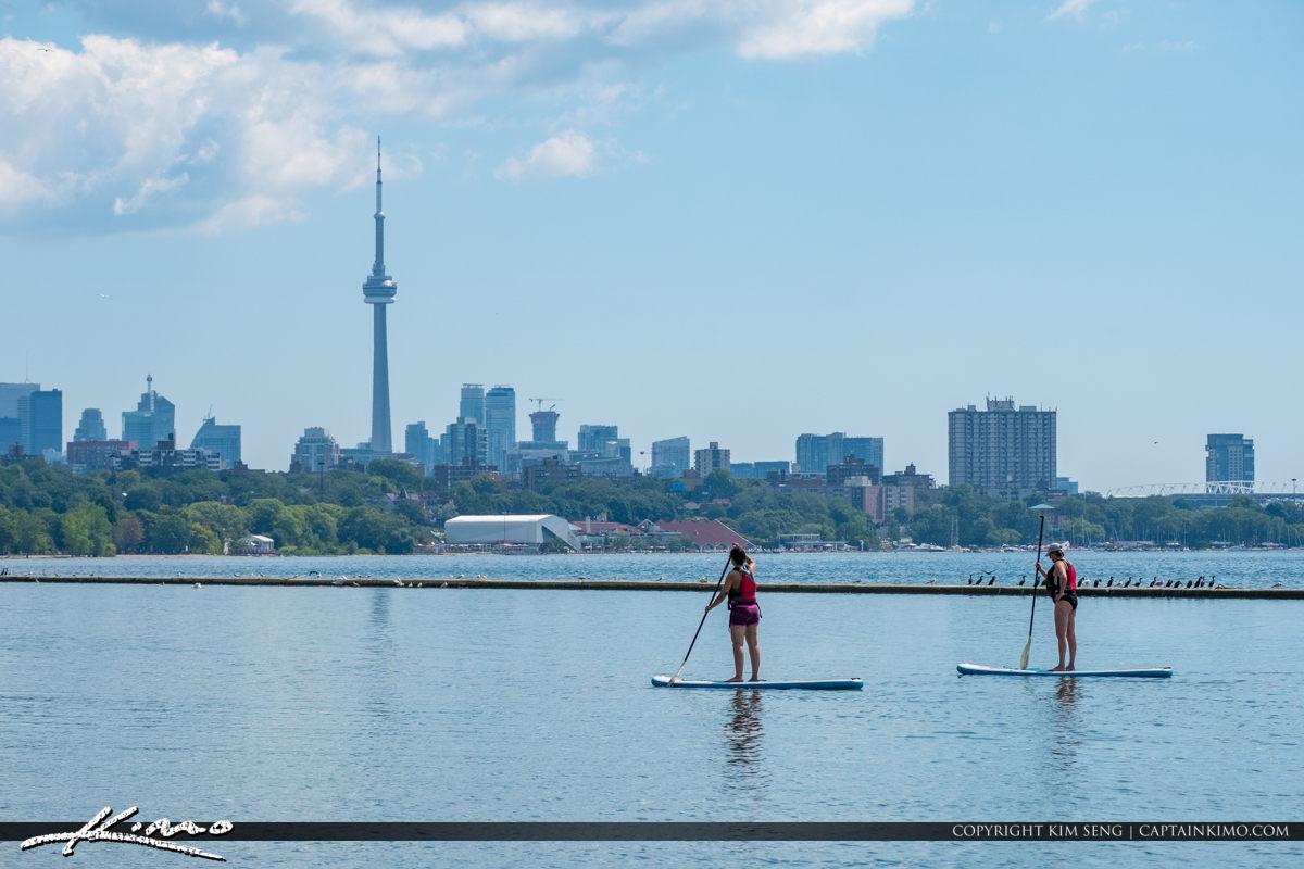 CN Tower Martin Goodman Trail Lake Ontario Canada Paddle Boardin