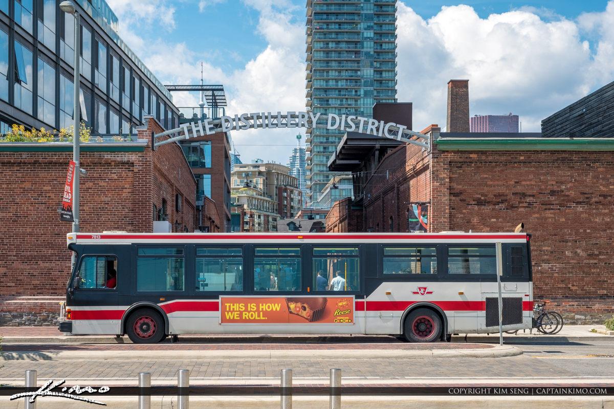 The Distillery District Toronto Canada Bus Stop