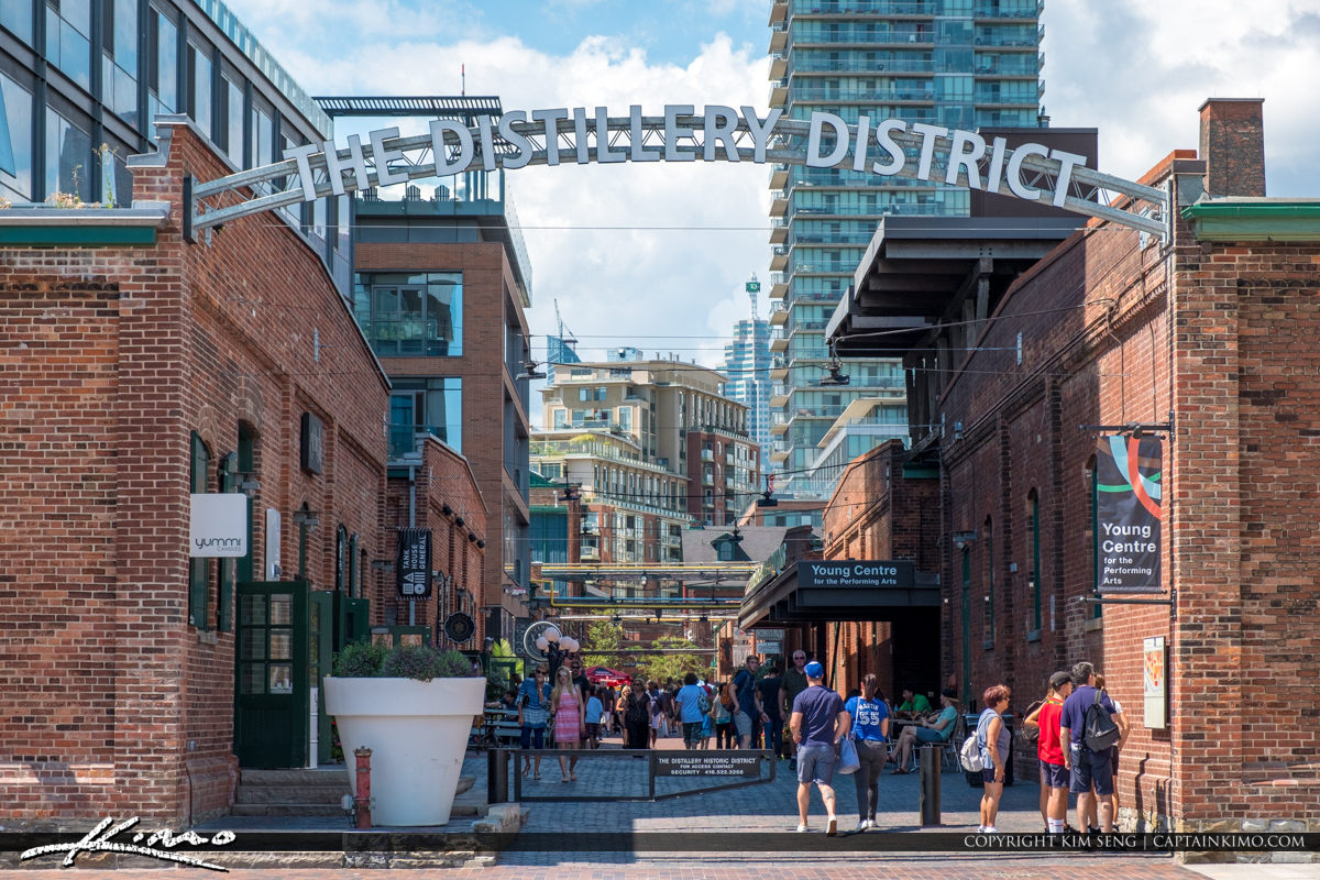 The Distillery District Toronto Canada Skyline