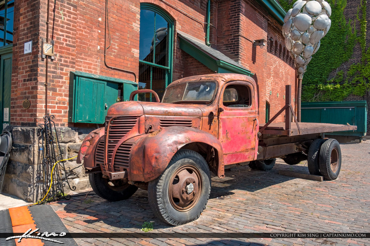 The Distillery District Toronto Canada Rusted Truck