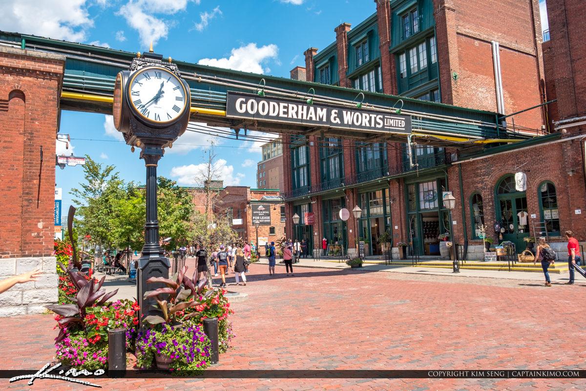 Gooderham and Worts Toronto Canada The Clock