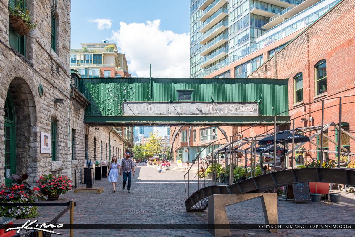 Gooderham and Worts Toronto Canada Cobbl Stone Road