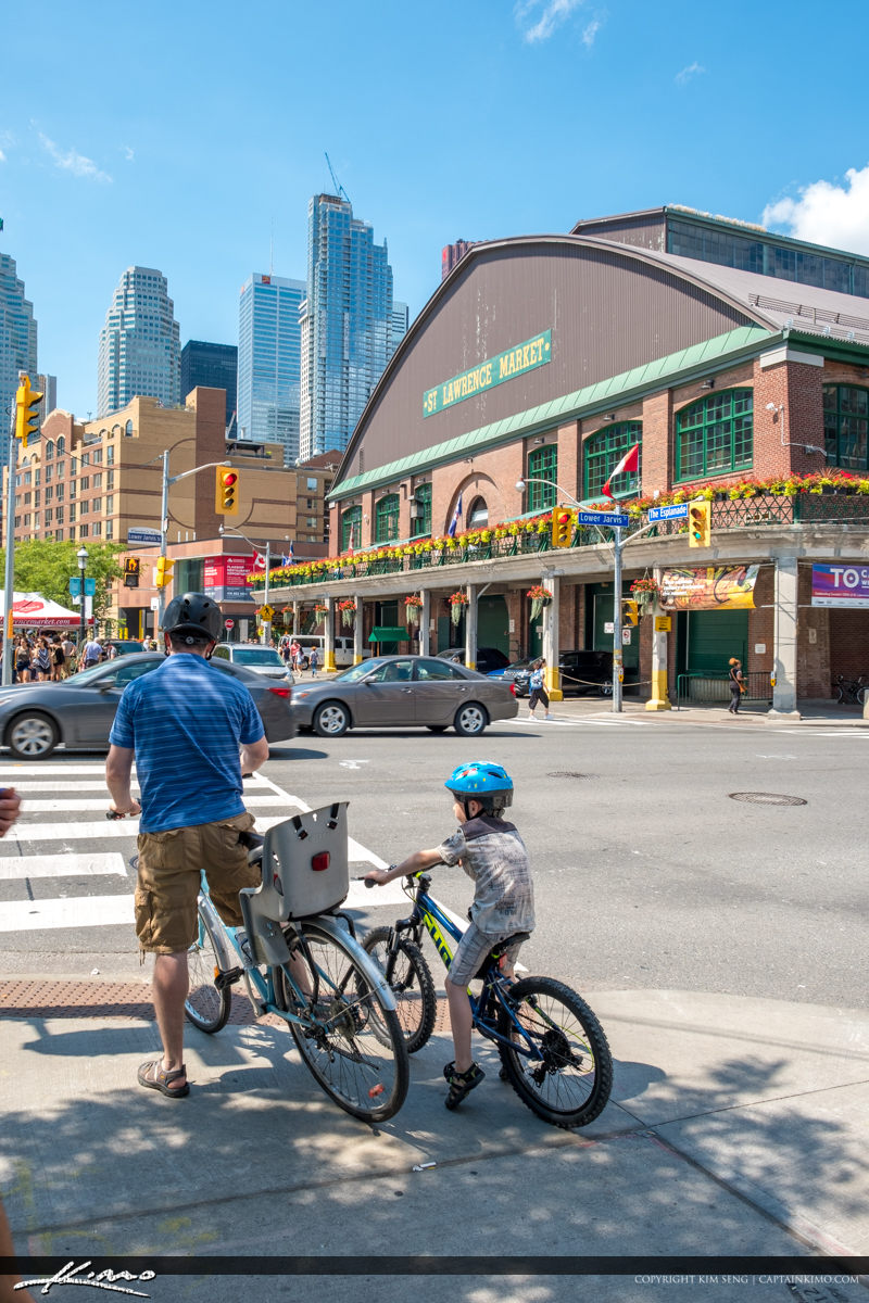 St Lawrence Market South Toronto Ontario Canada Father and Son o
