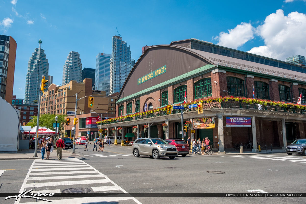 St Lawrence Market South Toronto Ontario Canada Downtown Skyline