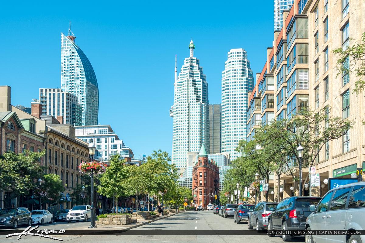 Gooderham Building Flatiron Building Toronto Canada Ontario Skyl