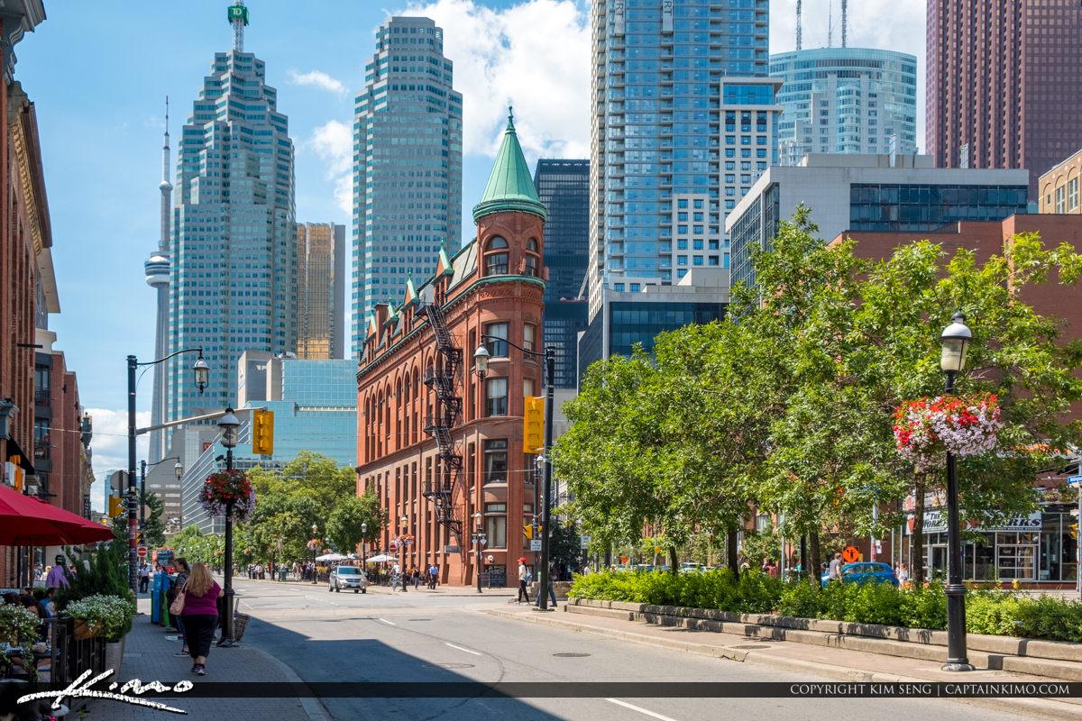 Corner Building Gooderham Building Flatiron Building Toronto Can