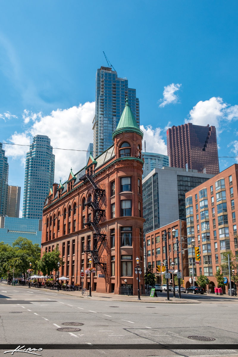 Historic Corner Gooderham Building Flatiron Building Toronto Can
