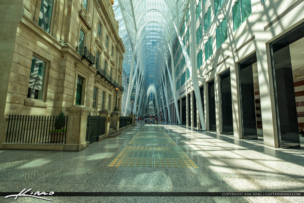 Toronto Eaton Centre Ontario Canada Old and New Architecture
