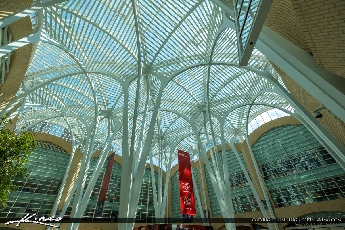 Toronto Eaton Centre Ontario Canada Looking up at Ceilings