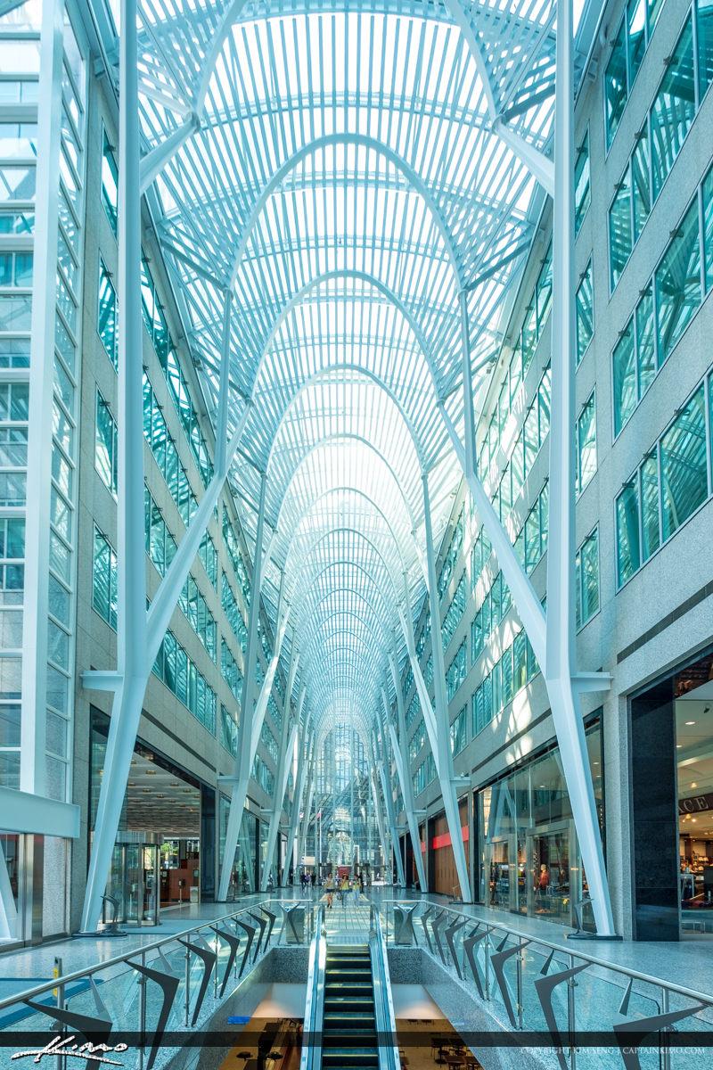 Vertical Toronto Eaton Centre Ontario Canada