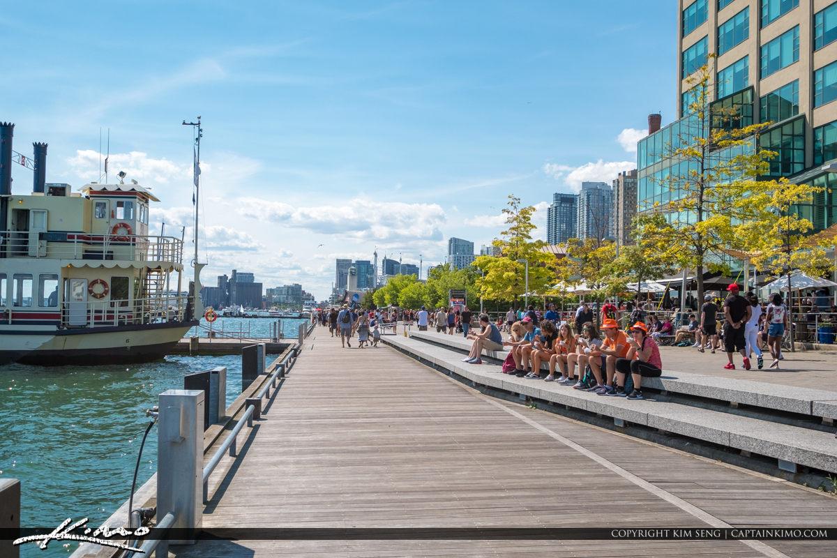 Waterfront Toronto Ontario Canada People Enjoying the Fresh Air