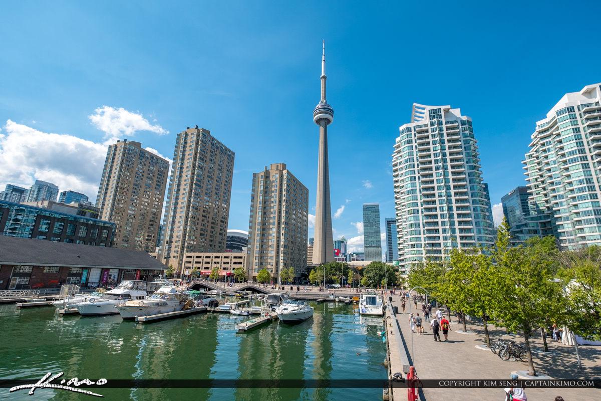 Waterfront Toronto Ontario Canada Marina and CN Tower