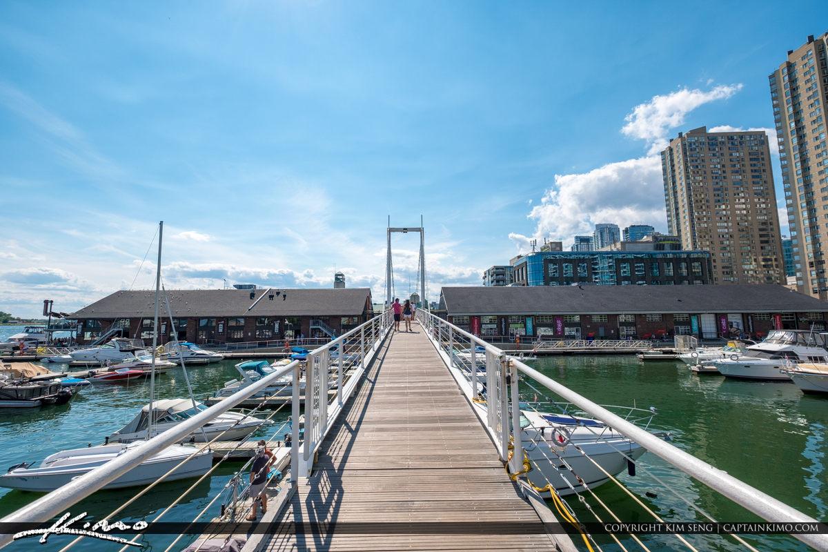 Waterfront Toronto Ontario Canada Bridge at the Marina