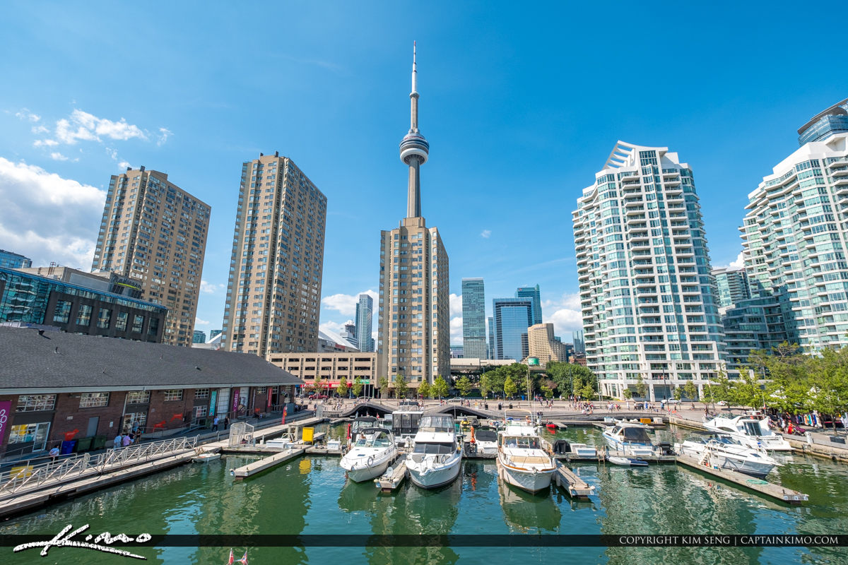 Waterfront Toronto Ontario Canada CN Tower Marina