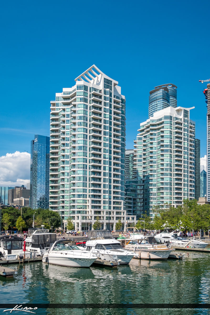 Waterfront Toronto Ontario Canada Buildings and Boat