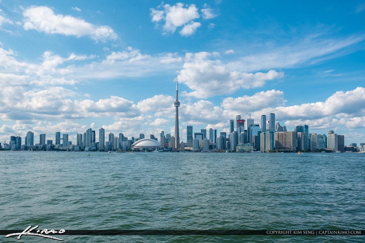 Blue Sky Toronto Canada Skyline