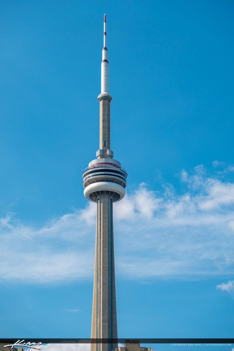 Cn Tower Blue Sky Toronto Canada Royal Stock Photo