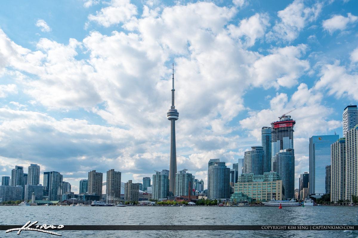 Skyline at Lake Ontario Toronto Canada