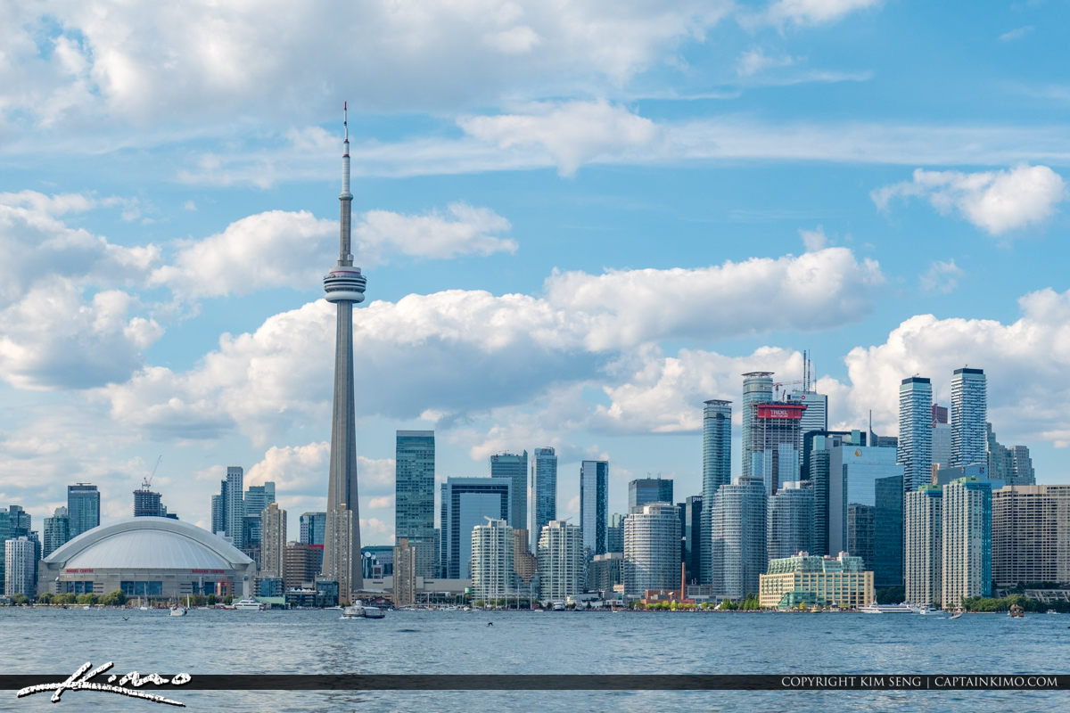 Rogers Centre Stadium Blue Sky Toronto Canada