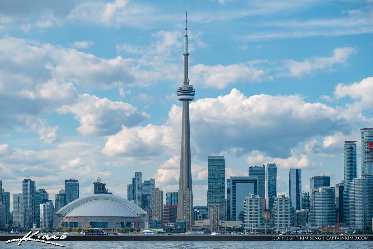 City Buildings Skyline Blue Sky Toronto Canada