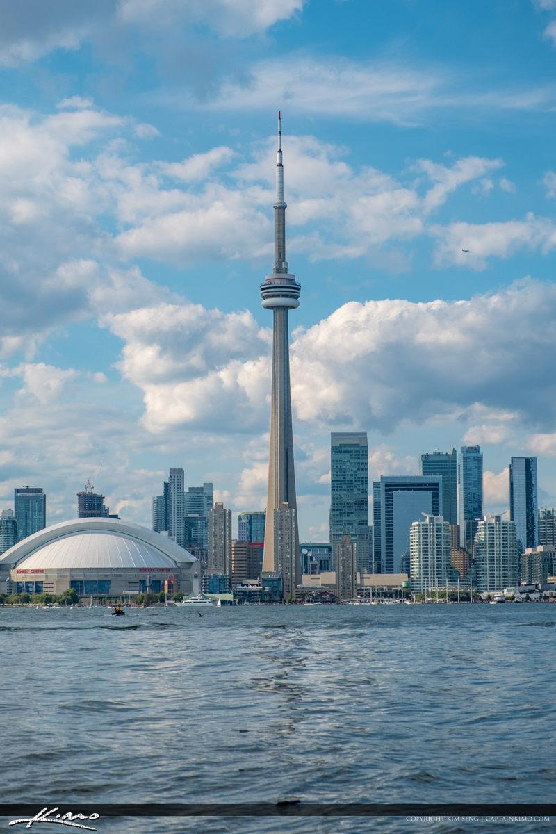 CN Tower and Rogers Centre Stadium Toronto Canada