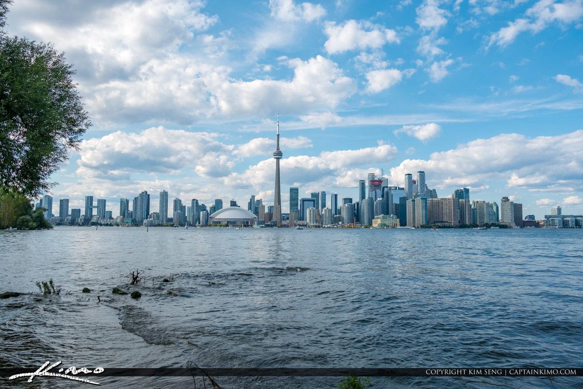 Centre Island View of the Skyline Toronto Ontario Canada