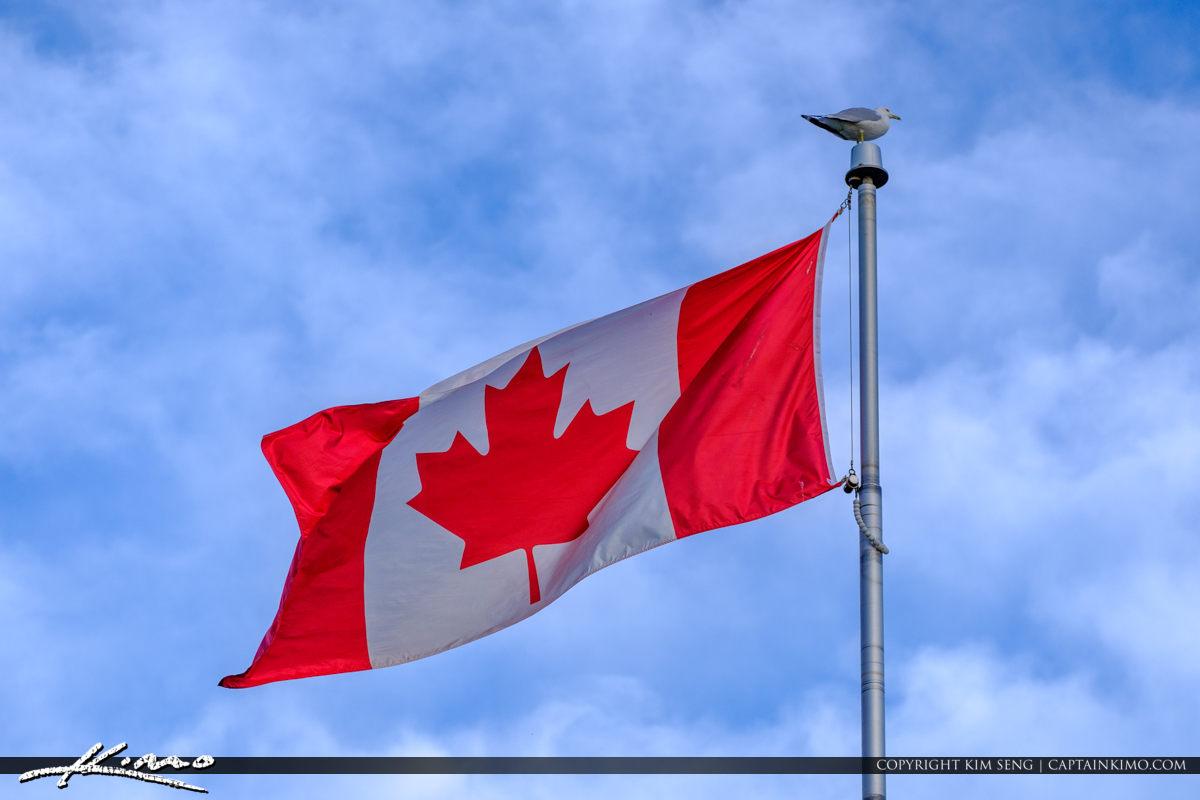 Canadian Flag Centre Island Toronto Ontario Canada