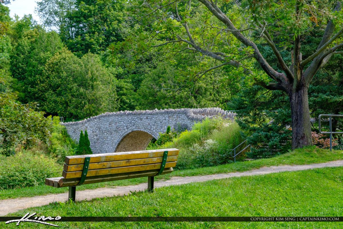 Bench Bridge Websters Falls Hamilton Ontario Canada