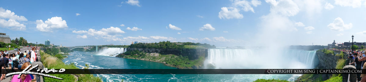 Rainbow Bridge Pano Niagara Falls ON Canada