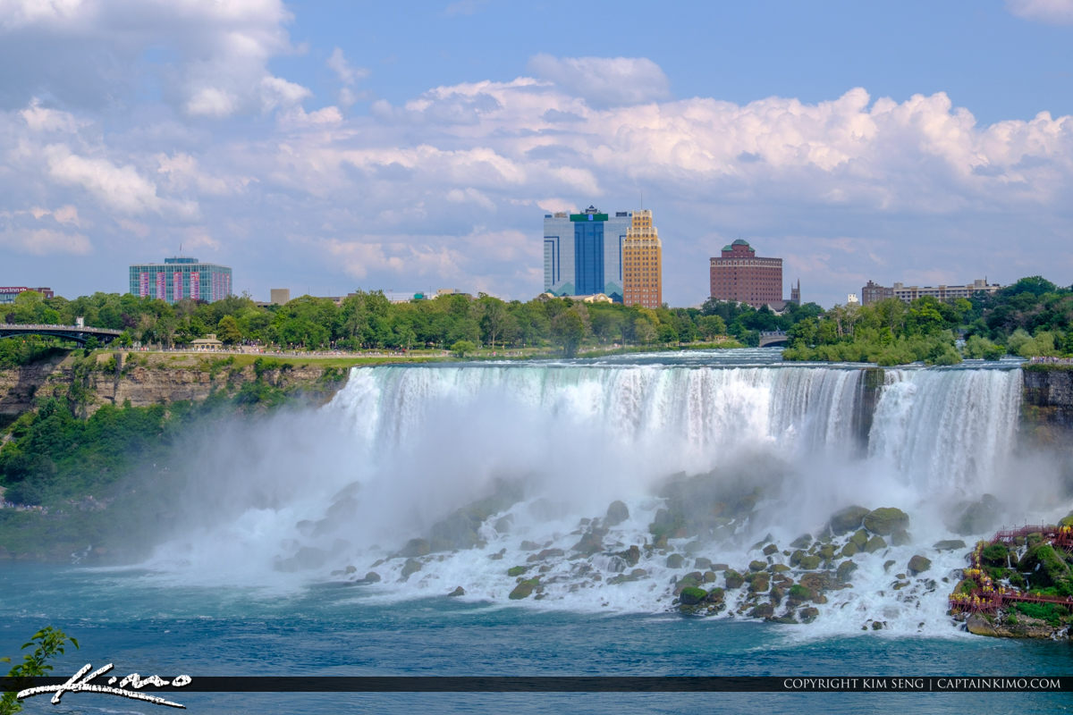 Niagara Falls Skyline and Waterfall Niagara Falls ON Canada