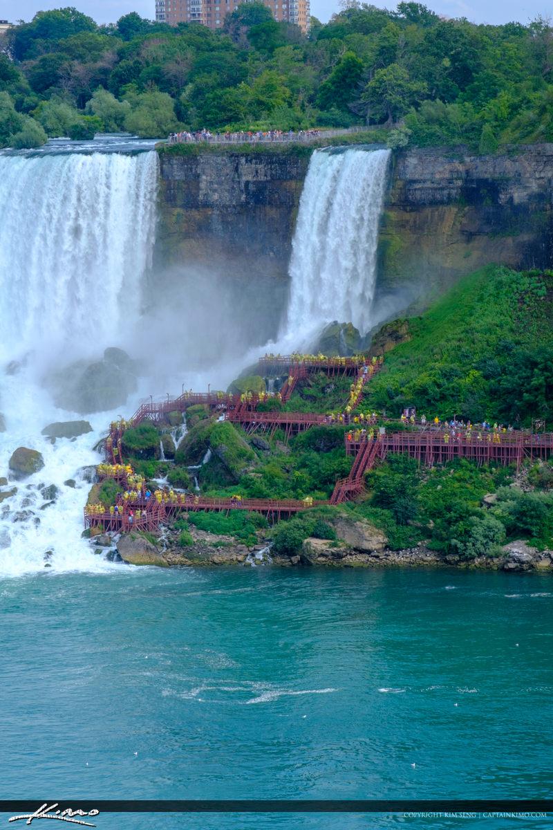 Down at the Lower Falls at Niagara Falls Niagara Falls ON Canada