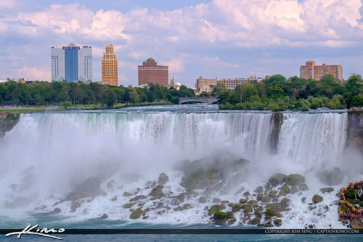 Rocks at the Bottom of Niagara Falls Niagara Falls ON Canada
