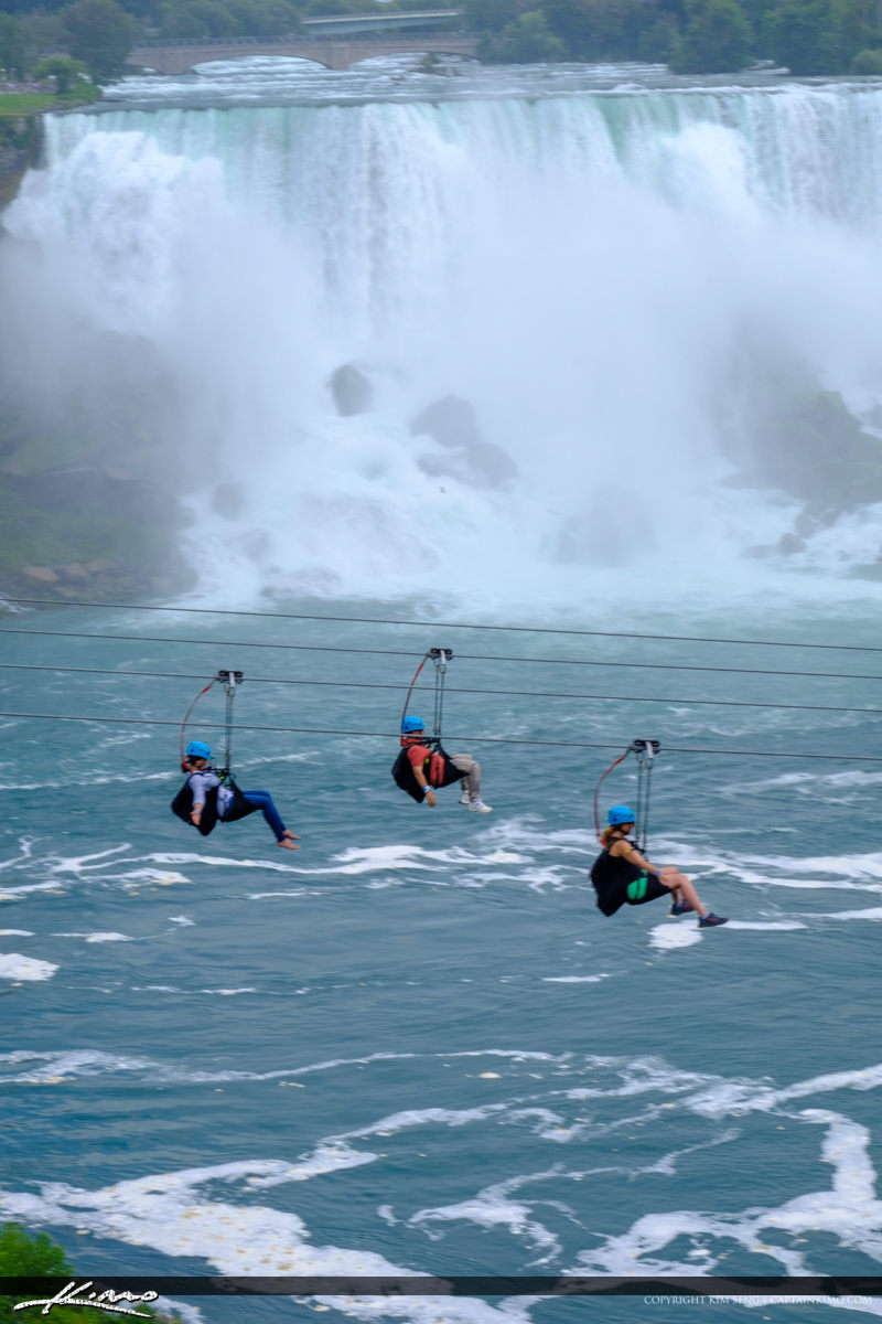 Zip Line over the River Niagara Falls ON Canada