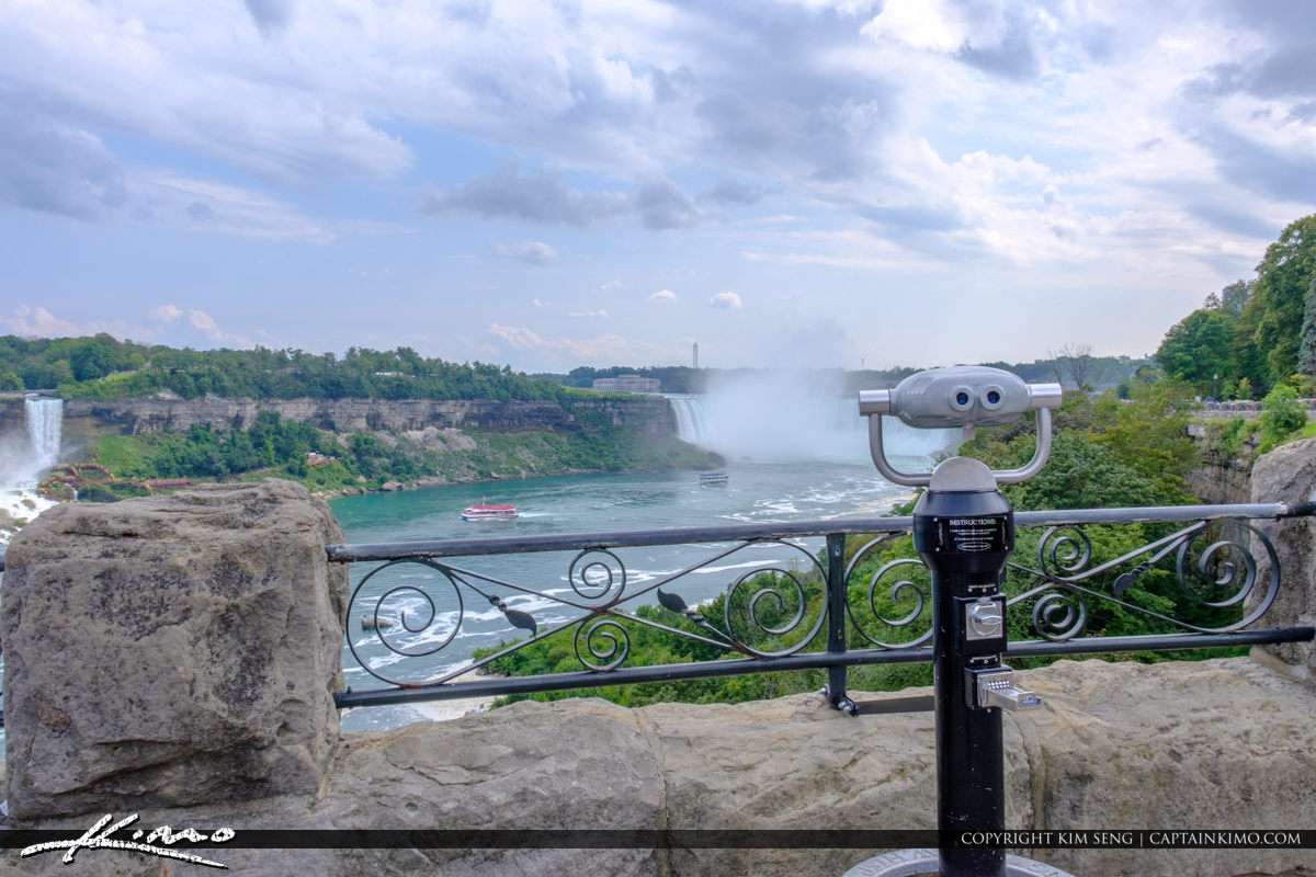 Looking Glass at Horseshoe Falls Niagara Falls ON Canada