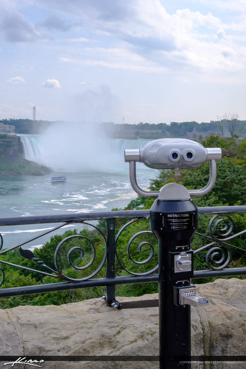 Waterfall Looking Glass Niagara Falls ON Canada