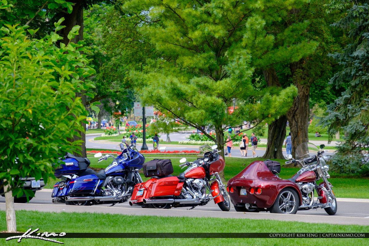 Motorcycle Niagara Falls ON Canada Queen Victoria Park