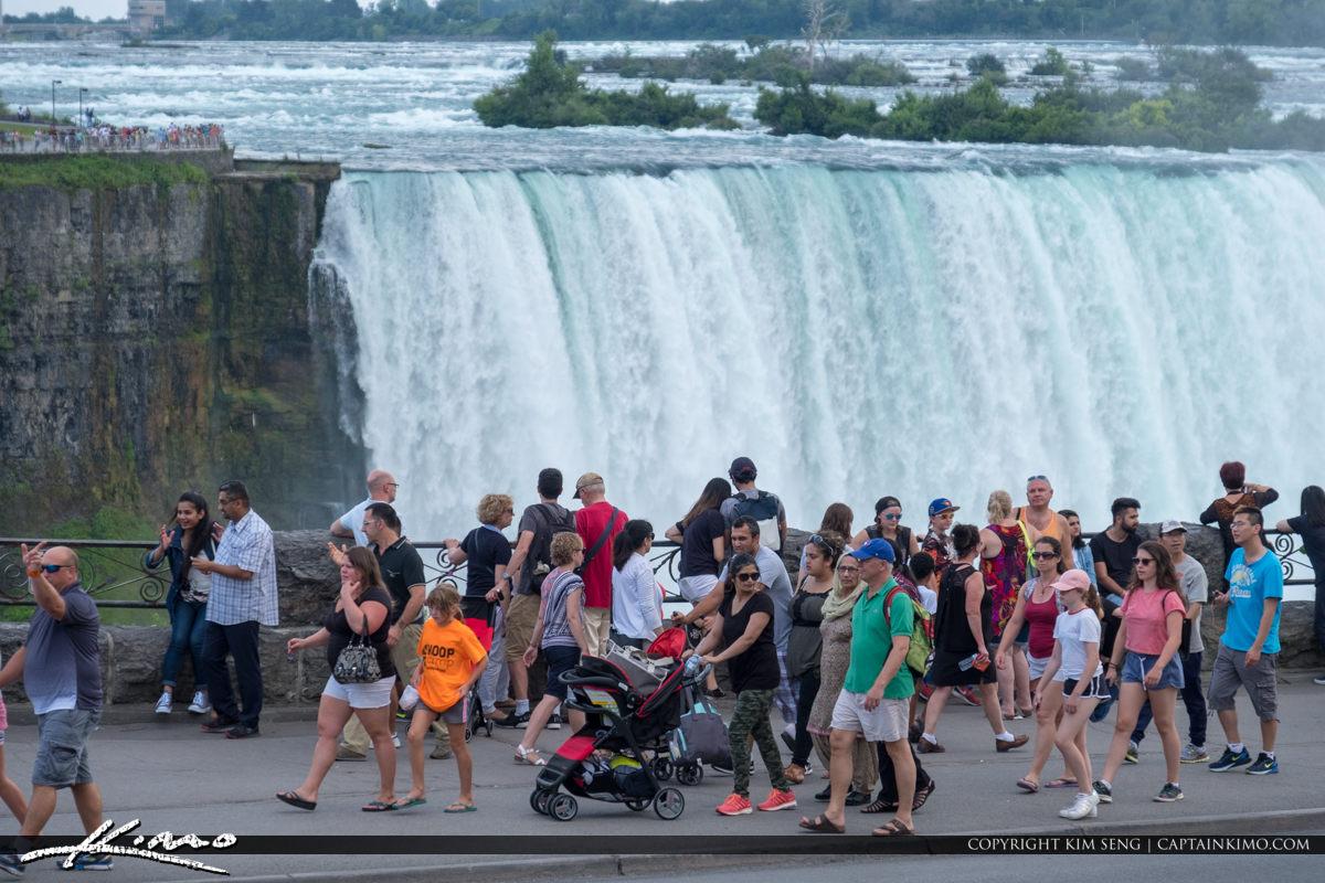 Niagara Falls ON Canada Tourist at Waterfall