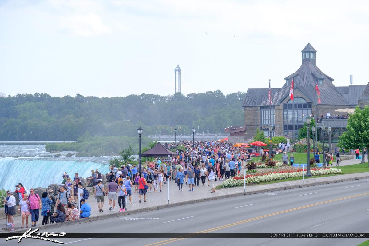 Niagara Falls ON Canada Full of People