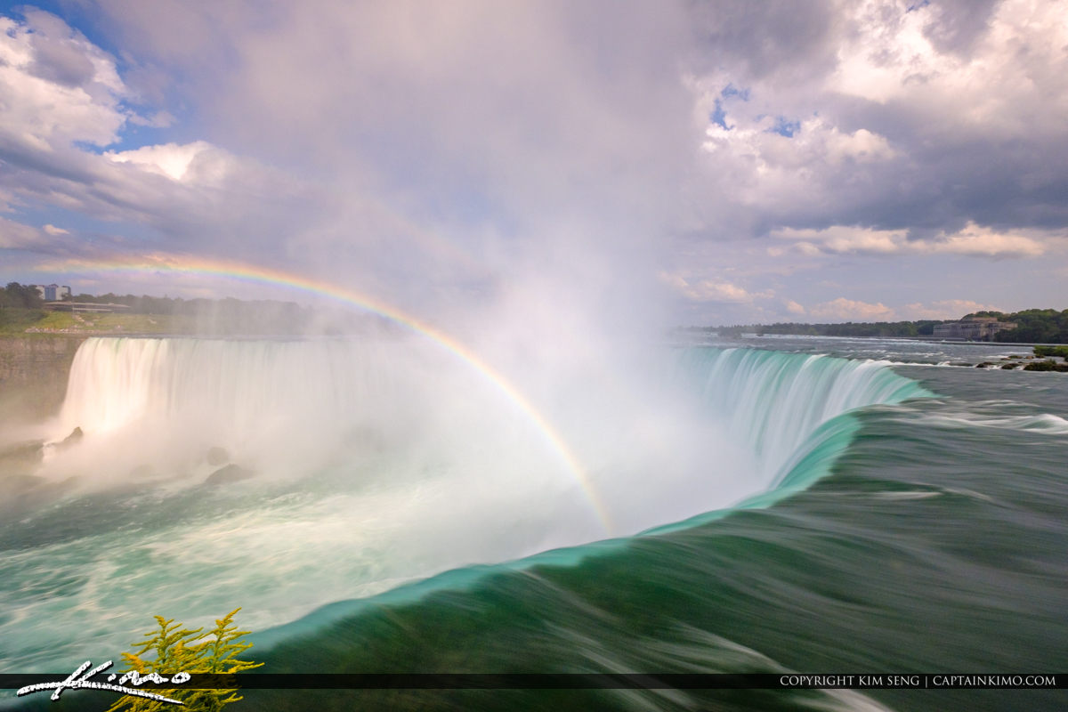 Long Exposure Rainbow Niagara Falls ON Canada