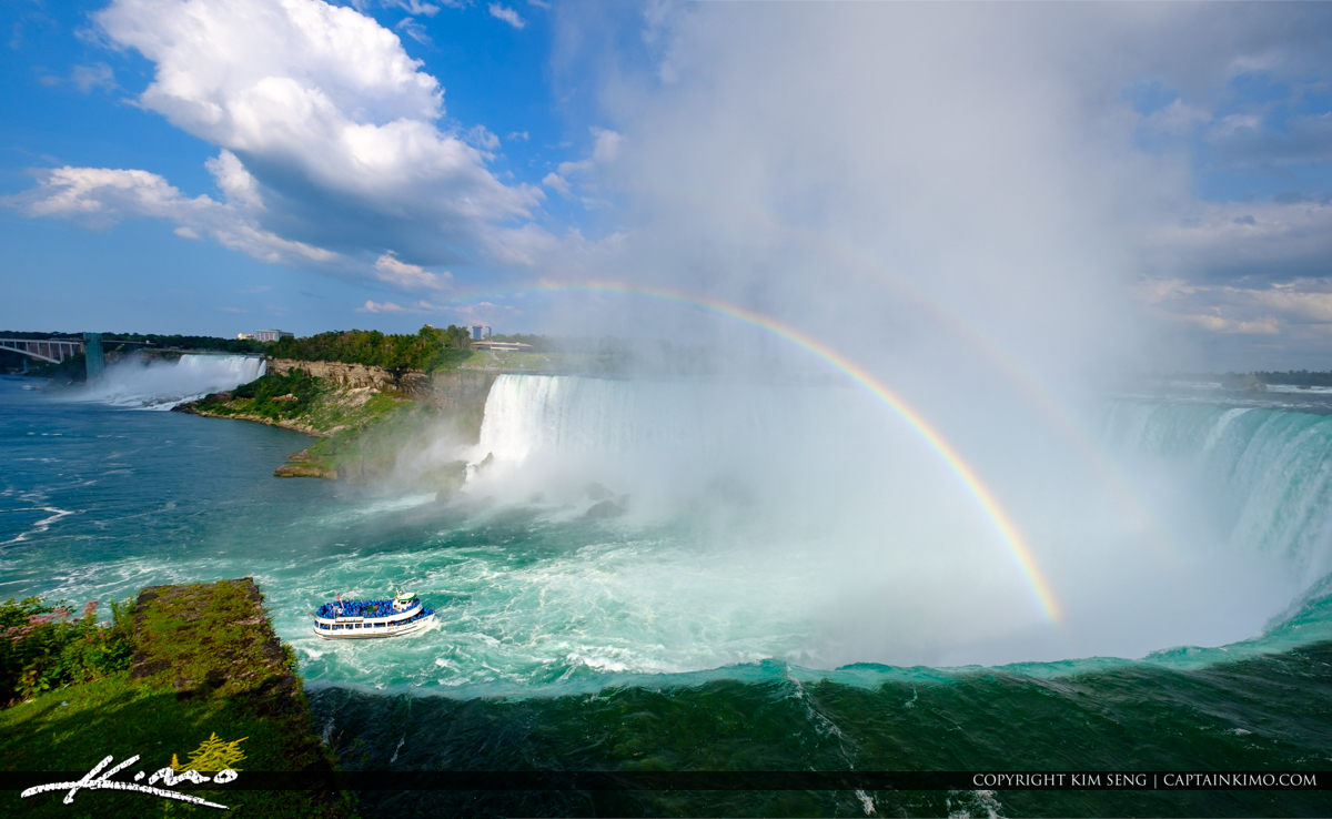 Maid of the MIst Wide Pano Niagara Falls ON Canada