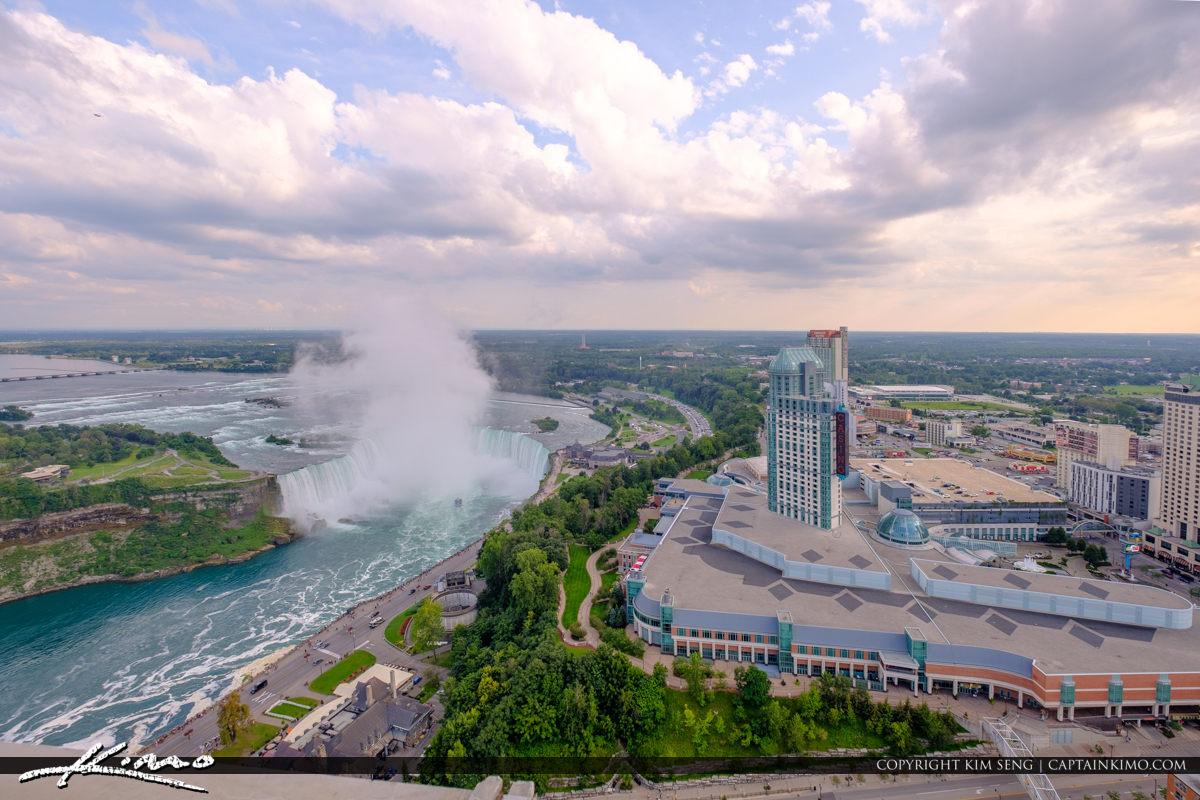 Skylon Tower Niagara Falls Ontario Canada Horseshoe Falls