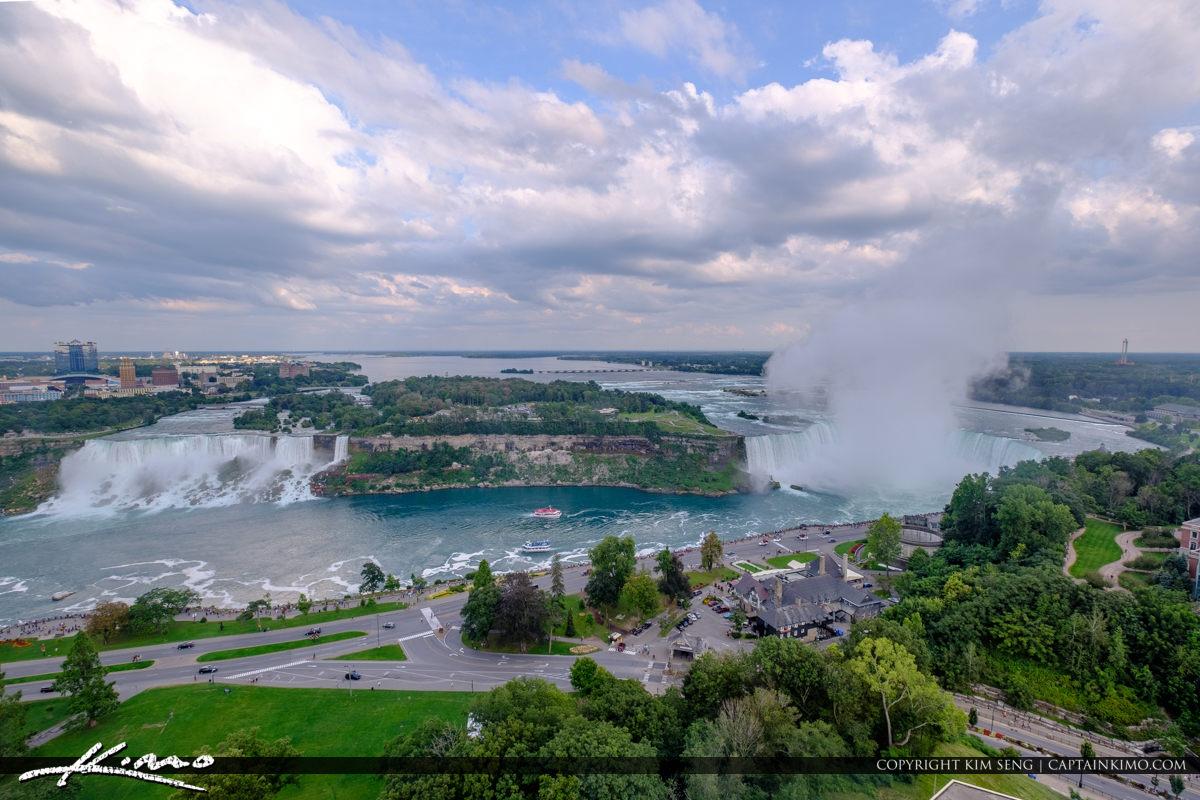 Skylon Tower Niagara Falls Ontario Canada Horseshoe Falls and Am