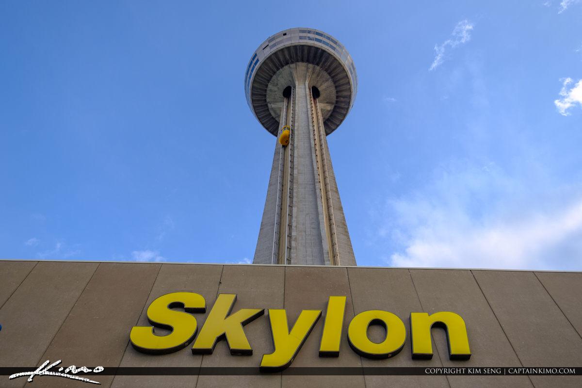 Skylon Tower Niagara Falls Ontario Canada Up at Tower
