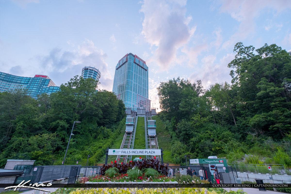 Niagara Parks Falls Incline Railway Canada Looking Up