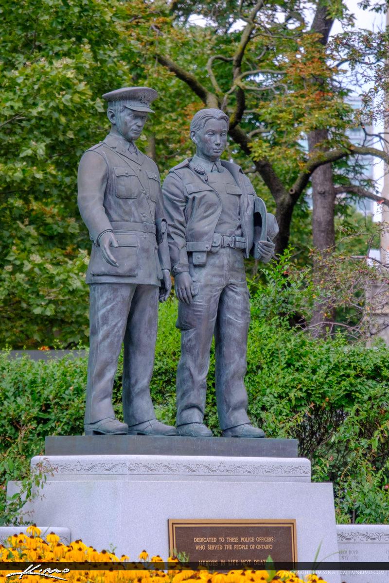 Vertical Ontario Police Memorial Park Statue
