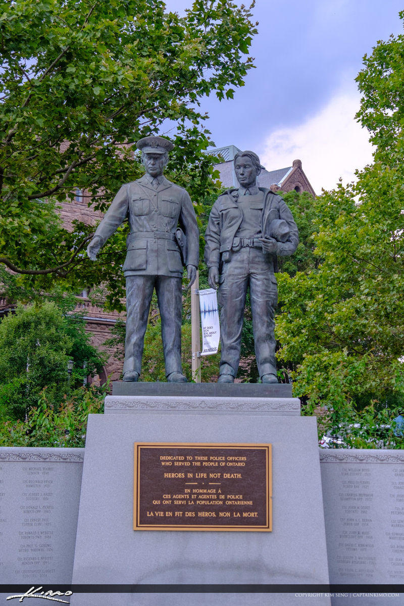 Historic Buidlings Downtown Toronto Canada Ontario Police Memori