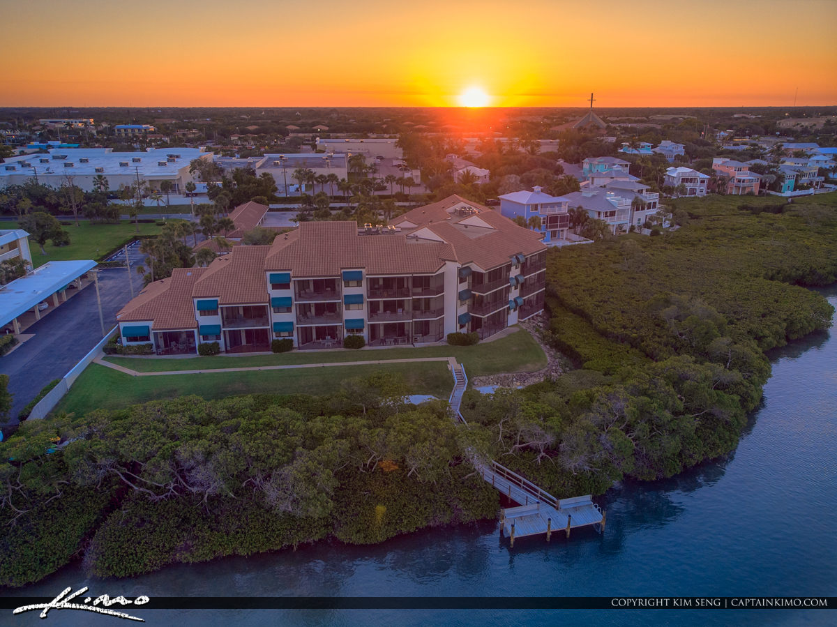 Tequesta Florida Sunset Waterfront Property Intracoastal