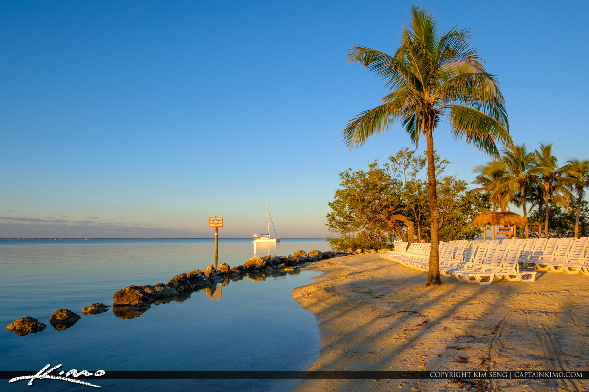 Sailboat at Beach Gilberts Resort Key Largo Florida Keys